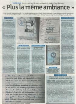 Article Breitenbach à l'heure Allemende